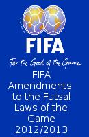 Fifa Futsal Amendments 2012